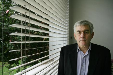 Author Murray Bail at his Potts Point apartment.