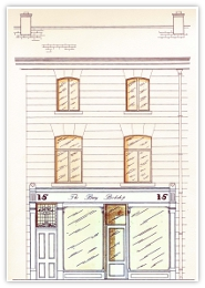 Drawing of Original Bray Book Shop
