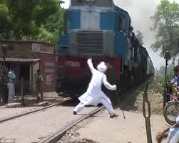 Chicken with train